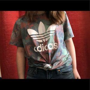 [adidas] color marble shirt